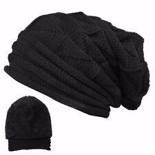 Men's Women's Knit Baggy Beanie Oversize Fashion Winter Hat Ski Slouchy Chic Cap