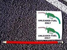 Combustible sin plomo X2 Advertencia Pegatinas Calcomanías de coches taxi Citroen FÍAT Opel