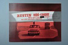 Vintage Brochure: Austin Mini Cooper 998 1275 & S Type, Hydrolastic 1966 2284/C