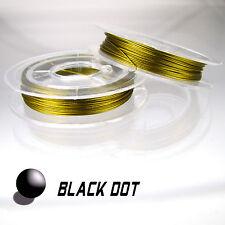 Stahldraht Goldfarbe mit Coating Schmuckdraht 0,38mm Rolle ca. 10 Meter