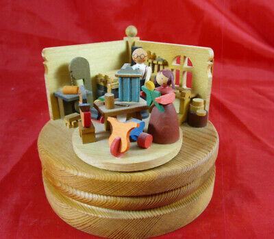 """Table Décor & Serving Pieces Holiday & Seasonal Décor Graupner Spieldose Spieluhr """"abc,die Katze Lief Im Schnee"""" Spielzeugmacher"""