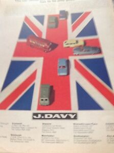 Ephemera-1966-Advert-J-Davy-Car-Rental-Union-Jack-M483