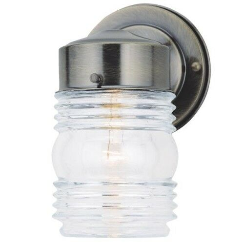 Home Impressions Jelly Jar Outdoor Wall Fixture