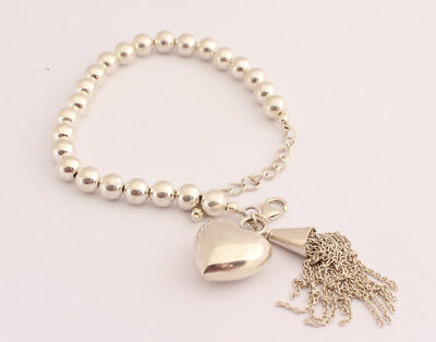 Jewelry & Watches Gorgeous Bracelet In 925 Silver Jewelry Rhodium-plated Heart Gift Ladies