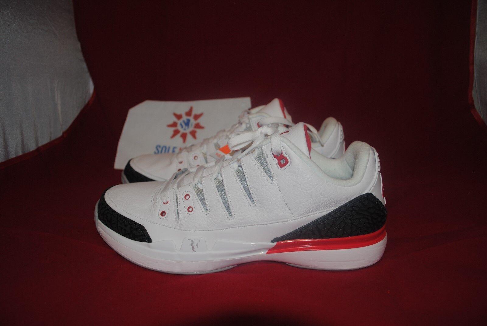 Nike Air Jordan Zoom Vapor RF SZ:8-13 Fire Red 3 Roger Federer  709998-106
