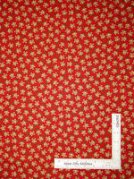 Christmas Gingerbread Man Toss Red Cotton Fabric Timeless Treasures C3380 - Yard