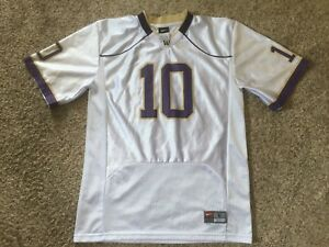 Nike Washington Huskies  10 Youth Boys White Football Jersey Purple ... d26d218c6