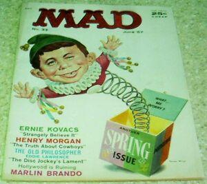 Mad Magazine 33, (VF- 7.5) 1957, Mingo Jack-in-the Box cover! 40% off Guide!