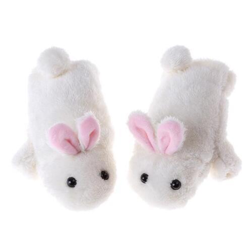 Women Ladies Kids Warm Lolita Bunny Rabbit Gloves Fingerless Mittens Cute LC