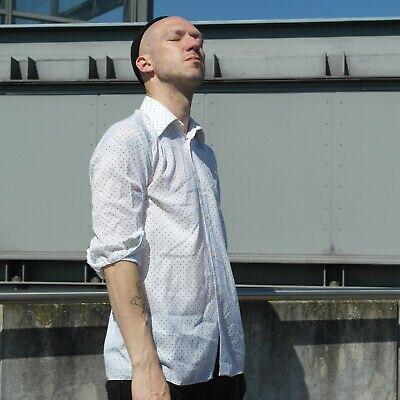 Haben Sie Einen Fragenden Verstand Permaflott 40n Herrenhemd Hemd Polka-dot True Vintage Mens Shirt Gepunktet 70er Profitieren Sie Klein