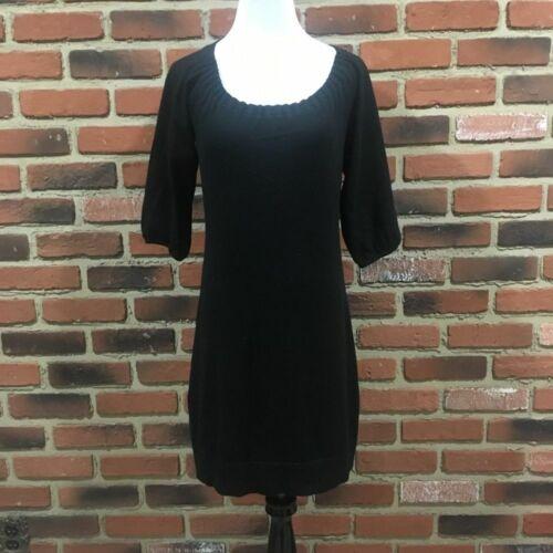 Ann Taylor Black Sweater Dreess sz S