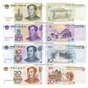 Cina-1-5-10-20-Yuan-2005-2017-Set-di-4-BANCONOTE-4-PZ-UNC