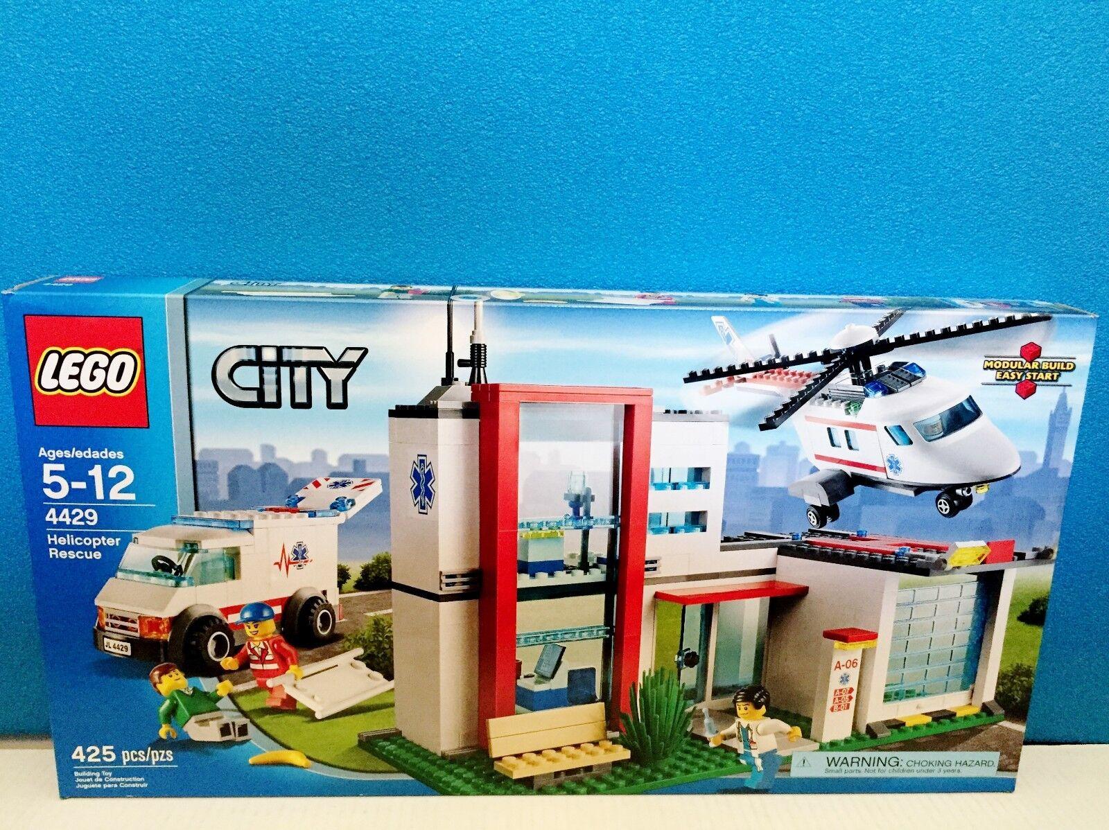 LEGO CITY HELICOPTER RESCUE 4429 Hospital Ambulance Emergency Room ER NEW SEALED