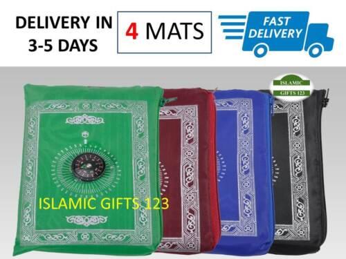 4 Portable Pocket Prayer Mats  Wholesale Ramadan Muslim Islamic Gifts USA ☪☪☪☪