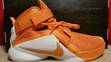 NIKE LEBRON SOLDIER IX TB Size 9 Orange White 813264 882 Mens Shoes NEW