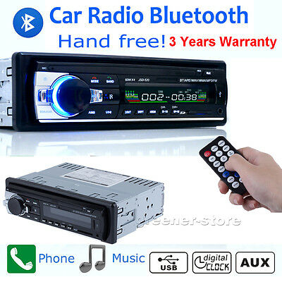 Car Radio Bluetooth Stereo Radio 1Din Head Unit Player MP3/USB/SD/AUX/FM In dash