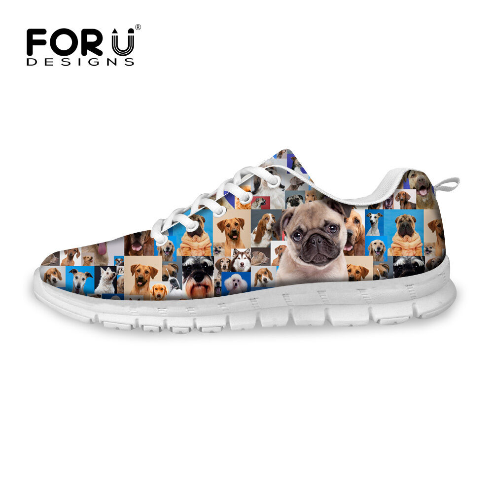 Animals Pug Dog Women Sport Breathable Sneakers Casual Running Walking Shoes