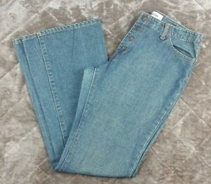 Gap-Womans-Long-and-Lean-Jeans-34-Waist-14-16-Flare-Boot-High-Waist-Mom-Snap-BB