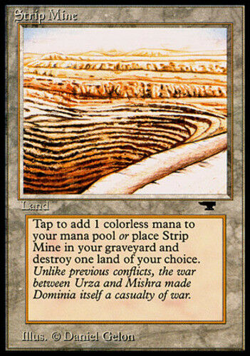 1x Strip Mine (Even Horizon) Heavy Play, English Antiquities MTG Magic
