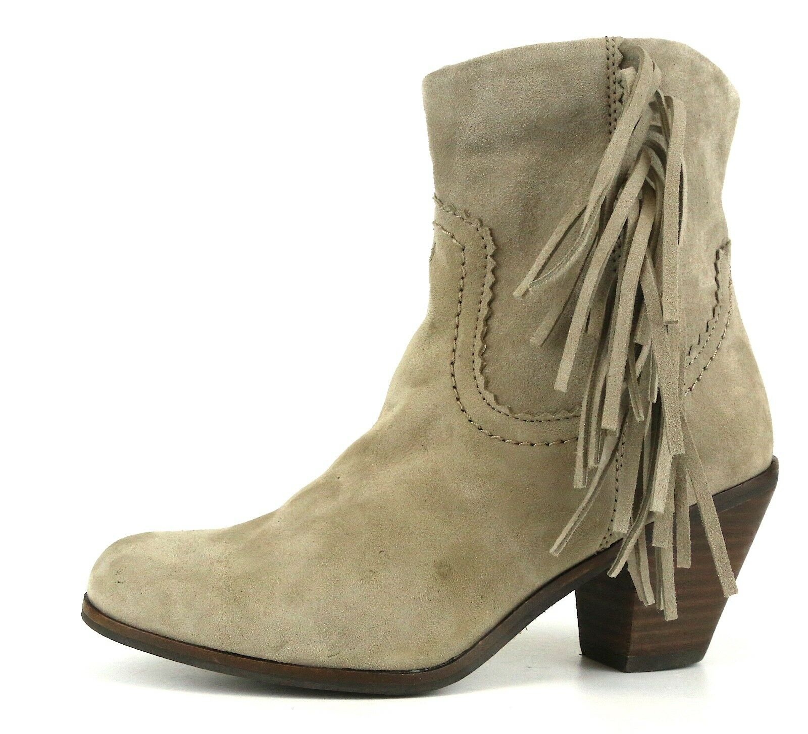 Sam Edelman Louie Suede Boot Grey Women Sz 4.5 M 5496