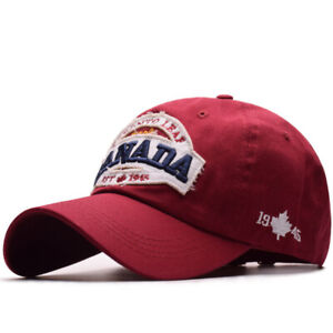 40be119589a9 Image is loading Vintage-Baseball-Cap-CANADA-Embroidery-Snapback-Fashion- Sports-