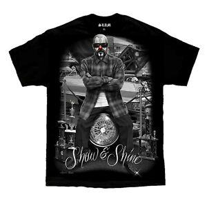 Show-amp-Shine-Clown-Lowrider-Show-Homies-Chicano-Art-David-Gonzales-DGA-T-Shirt