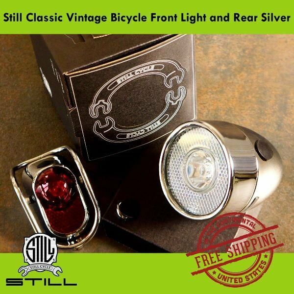 Still Classic Vintage Bicycle Front  Rear LED Light for Road & City Bike