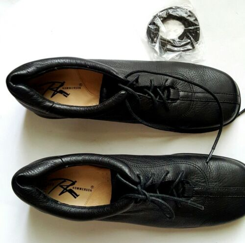 NEW ROS HOMMERSON WOMEN/'S FLAT WHITE OR BLACK LEATHER LACE UP SHOES SIZE:7 4A