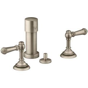 Kohler Artifacts K 72765 4 Bv Vibrant Brushed Bronze 2 Handle Bidet