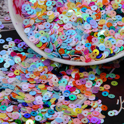 Loose round hex sequin 4mm 5mm Flat no hole bulk Sewing Trim Costume Dance Craft
