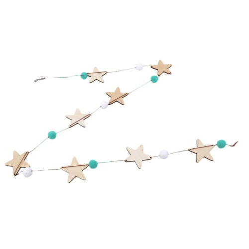 Bell Wooden Wind Chimes Star for Kids Room Hanging Decoration Accessory New F