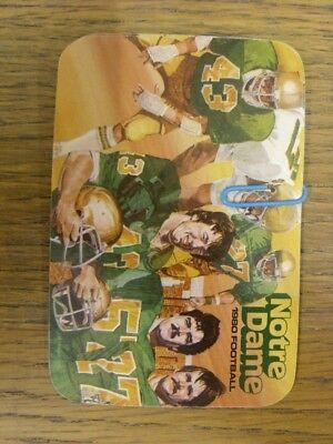 1980 American Football: NCAA Schedule/Fixture Card - Notre ...