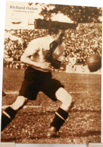Richard Oehm Fußball Nationalspieler DFB Fan Big Card Edition B187 Nürnberg