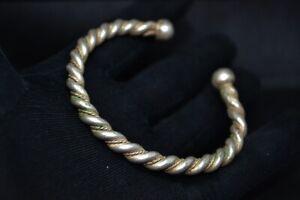 Tres-rare-ancien-Torsade-Tresse-Bracelet-Bronze-Viking-Artefact-Authentique