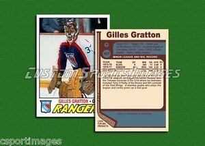 Gilles Gratton - New York Rangers - Custom Hockey Card  - 1976-77