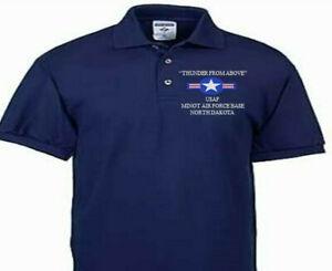 MINOT AIR FORCE BASE NORTH DAKOTA  USAF EMBROIDERED POLO SHIRT/SWEAT/JACKET.