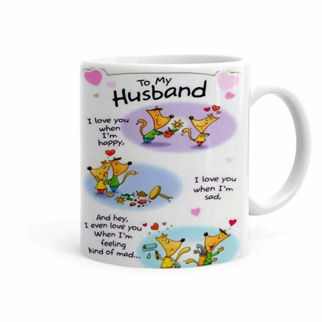 Love Quotes Printed Funny Coffee Mug For Husband Hubby Gift Ideas For Husband Ebay