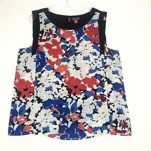 Vince Camuto Floral Print Sleeveless Top Blouse Size L NWOT
