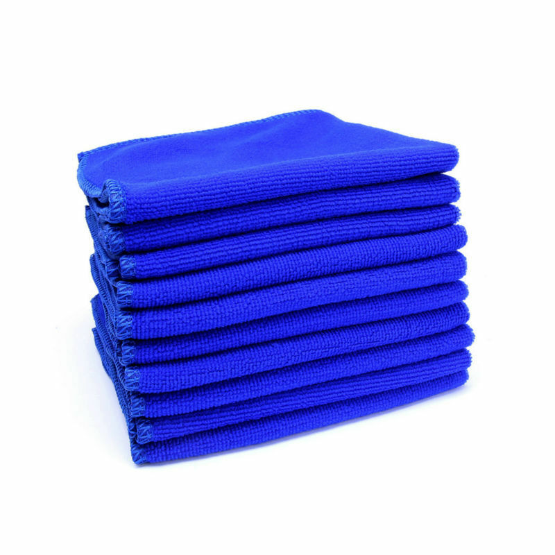 Zip Soft Microfiber Towel: 30*30cm Blue Soft Microfiber Absorbent Towel Anti-scratch