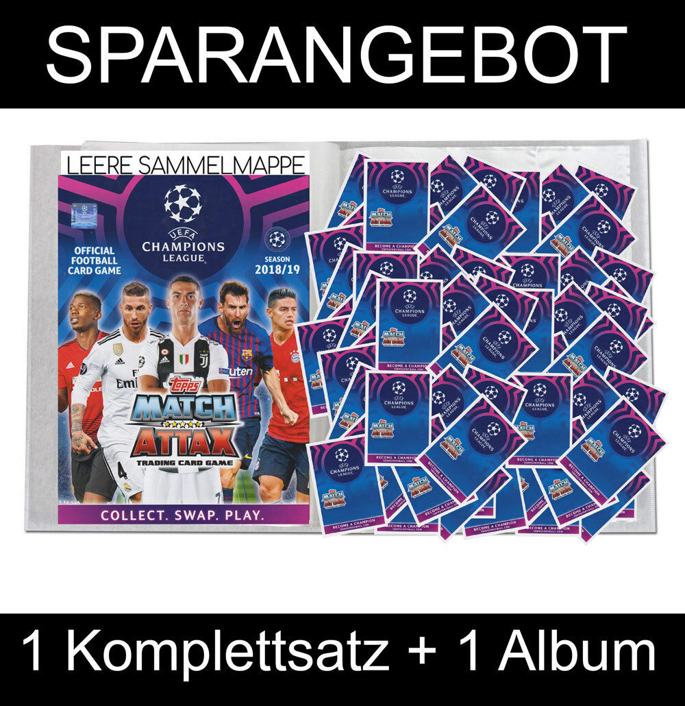 Topps - 2018   19 Champions - Trade Coched - komplettsatz album - Alemania