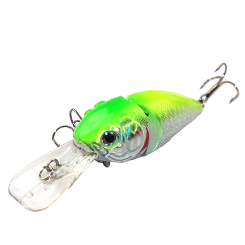 14G 8.5CM Fishing Lures Minnow Crank Bait Crankbait Bass Tackle Treble Hook J G4