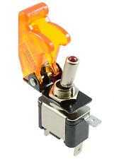 Amarillo Iluminada Led interruptor de palanca con misiles Estilo Flick cubierta coche DASH 12v