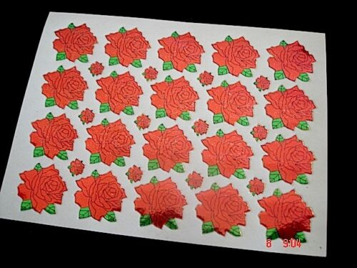 64 L /& S RED ROSE ENVELOPE STICKER SEAL WEDDING BIRTHDAY CRAFT CHINESE PARTY