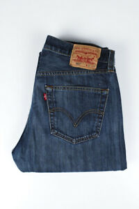 31652 Levi's Levi Strauss 501 Straight Leg Button Fly Bleu Hommes Jean Taille