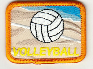 """Sports//Ball Small 1/"""" Volleyball Iron On Applique//Embroidered Patch"""