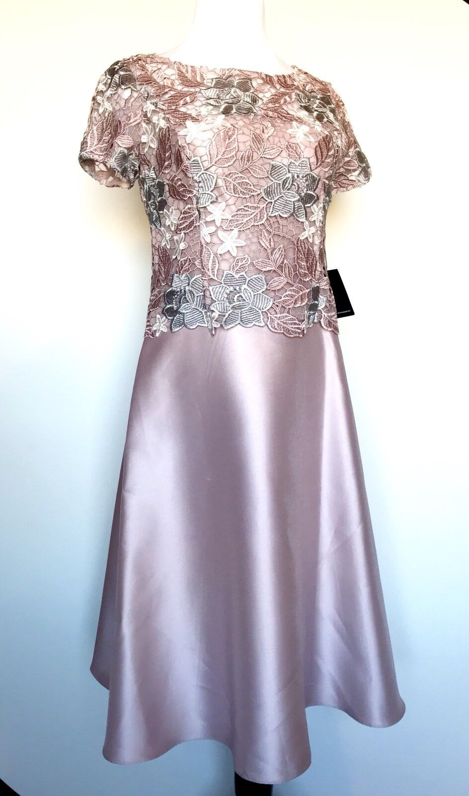 Adrianna Papell Pale purplec Lace Body Formal Dress Size 8 Retail   Price