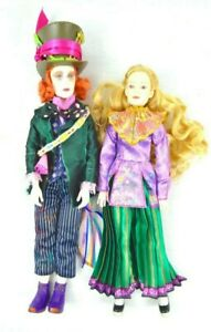 Disney-Alice-amp-Mad-Hatter-12-034-Collector-Dolls-Alice-Through-the-Looking-Glass