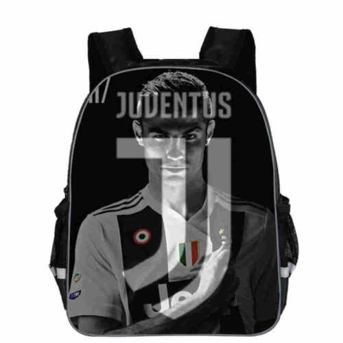 Football Juventus Cristiano Ronaldo Children School Backpack Daypack Bag
