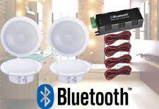 4 SPEAKER BATHROOM KITCHEN WIRELESS BLUETOOTH AMPLIFIER 4x4 INCH CEILING SPEAKER