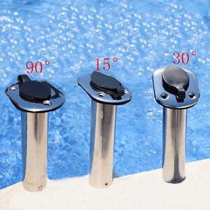Boat Flush Mount Rod Holder 153090 Degree Stainless Steel